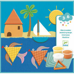 Djeco Light Modelling Clay - Prints and Shapes