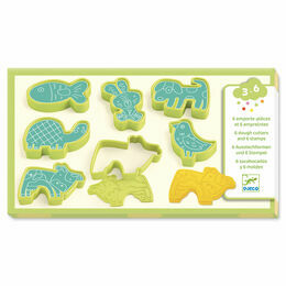 Djeco Play Dough Cutters and Stamps - Pet Animals