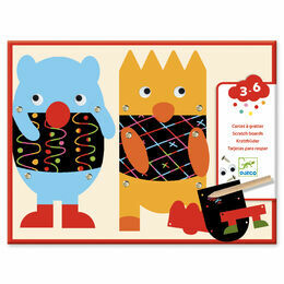 Djeco Scratch the Little Monsters Art Kit