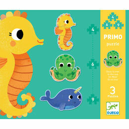 Djeco Primo Set of 3 Jigsaw Puzzles - In the Sea