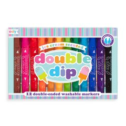 Ooly Double Dip Ice Cream Scented Markers (Set of 12)
