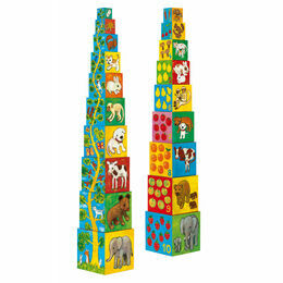 Djeco Stacking Cubes - My Animal Friends