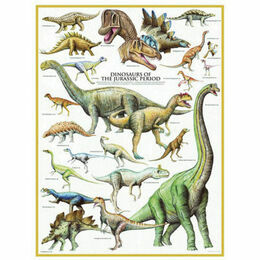 Dinosaurs of the Jurassic Period 1000 Piece Puzzle