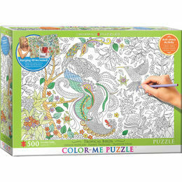 Colour Me Puzzle - Tropical Birds 500 Piece Puzzle