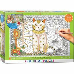 Colour Me Puzzle - Magical Cat 500 Piece Puzzle