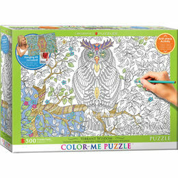Colour Me Puzzle - Owl 500 Piece Puzzle
