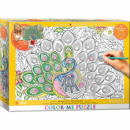Colour Me Puzzle - Majestic Feathers 500 Piece Puzzle