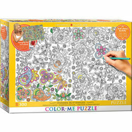 Colour Me Puzzle - Hidden Butterflies 500 Piece Puzzle