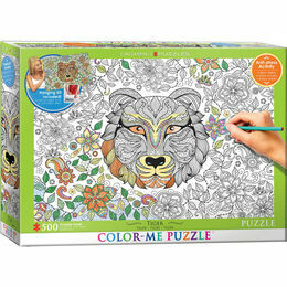 Colour Me Puzzle - Tiger 500 Piece Puzzle