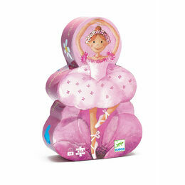Djeco 36 Piece Silhouette Puzzle - Ballerina with a Flower