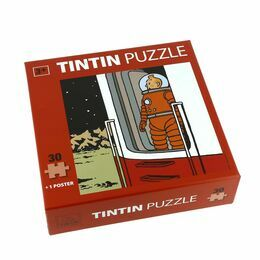 Tintin Viewing the Moon 30 Piece Puzzle