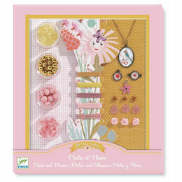 Djeco Jewellery Making Kit - Beads & Flowers
