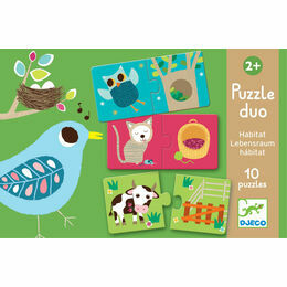 Djeco Animal Habitat Puzzle Duo
