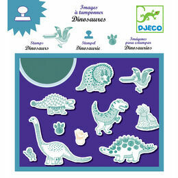 Djeco Stamp & Ink Set - Dinosaurs