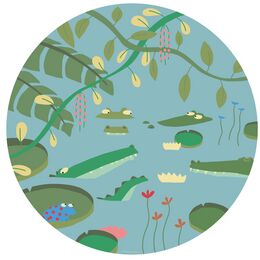Petit Jour Paris Jungle Side Plate - Crocodiles