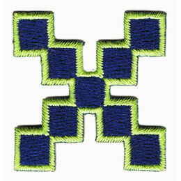 Jennie Maizels Alphabet Patch - Letter X - Blue/Green