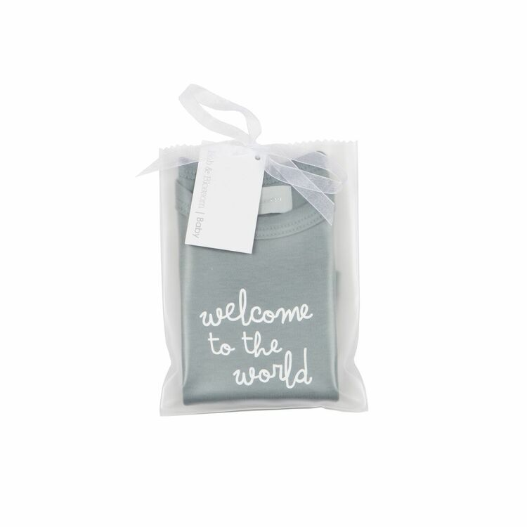 db01a02b7 ... 1 Slate Grey 'Welcome to the World' Baby T-Shirt additional 2