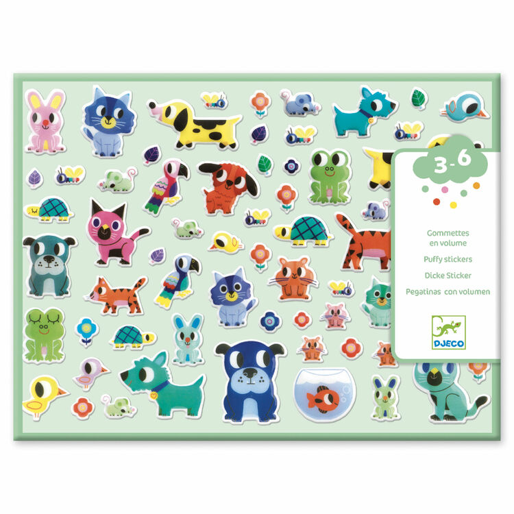 Djeco Puffy Stickers My Little Friends Only 7 25