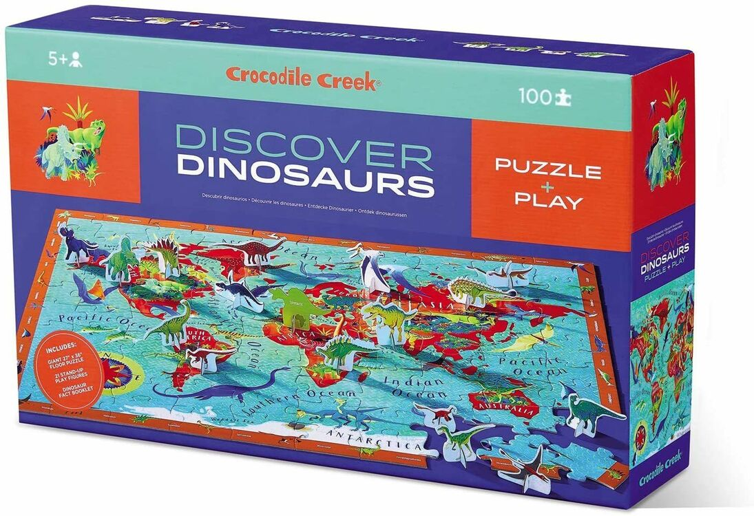 Crocodile Creek 100 Piece Discover Puzzle - Dinosaurs only ...