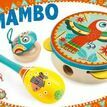 Djeco Animambo Set of 3 Musical Instruments (tambourine, maracas, castanet) additional 1