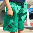 Mitty James Boarders Shorts - Green & Navy Frog additional 1