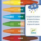 Djeco 8 Double-Ended Crayons - 16 Colours additional 1