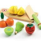 Djeco Role Play Wooden Fruit & Vegetable Set additional 1