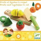 Djeco Wooden Cutting Fruit & Vegetable Set additional 2