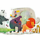 Djeco 36 Piece Giant Floor Puzzle - Animal Parade additional 1