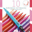 Djeco 10 Double Ended Felt Tip Pens - Pink additional 1