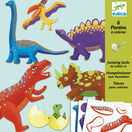 Djeco Jumping Jack Puppets - Dinosaurs additional 1