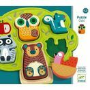 Djeco Oski Animals Wooden & Felt Relief Puzzle additional 1