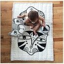 Wee Gallery Wild Tiger & Bear Muslin Quilt additional 2