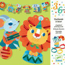 Djeco Garland of Lacing Cards - The Big Parade additional 1