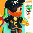 Djeco Pirate Magnetic Box Game - Aventura additional 3