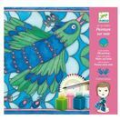 Djeco Peacock Silk Scarf Painting Kit additional 2