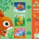 Djeco Primo Set of 3 Jigsaw Puzzles - Rabbits additional 1