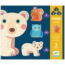 Djeco Primo Set of 3 Jigsaw Puzzles - In the Forest additional 1