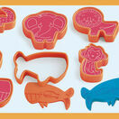 Djeco 6 Modelling Dough Cutters and 6 Stamps - Wild Animals additional 1
