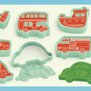 Djeco 6 Modelling Dough Cutters and 6 Stamps - Vehicles additional 1