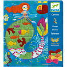 Djeco Drop Stitch Canvas Sewing Workshop - Mermaid additional 1