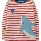 Joe Applique Top - Tomato Breton / Shark additional 1