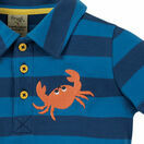 Penwith Polo Shirt - Marine Blue Stripe / Crab additional 4