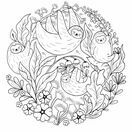 A Million Sloths Colouring Book additional 2