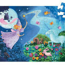 Djeco Silhouette Puzzle 36 Piece - The Fairy & Her Unicorn additional 2
