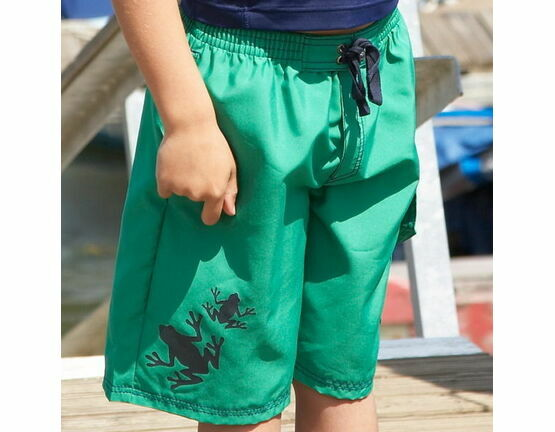 Mitty James Boarders Shorts - Green & Navy Frog