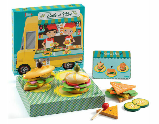 Djeco Emile and Olive Sandwich Role Play Set