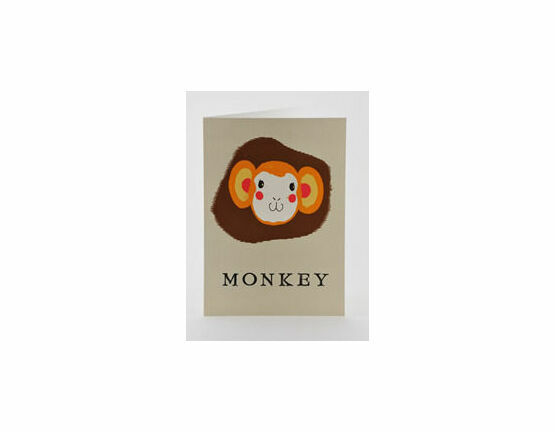 Petra Boase Japanese Paper Balloon Greeting Card - Monkey
