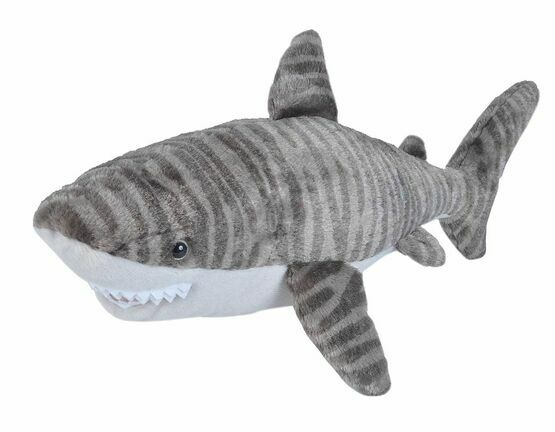 Wild Republic Tiger Shark 38cm Cuddlekin Soft Toy