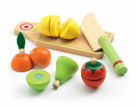 Djeco Role Play Wooden Fruit & Vegetable Set